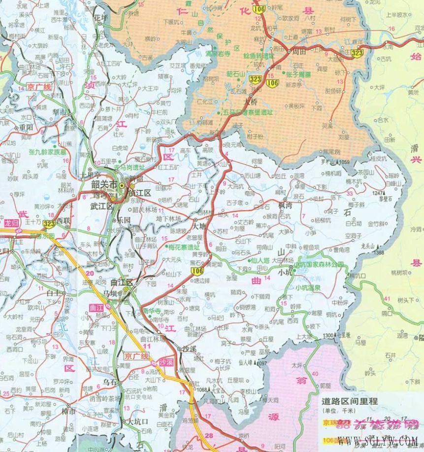 韶关市区地图 高清图片